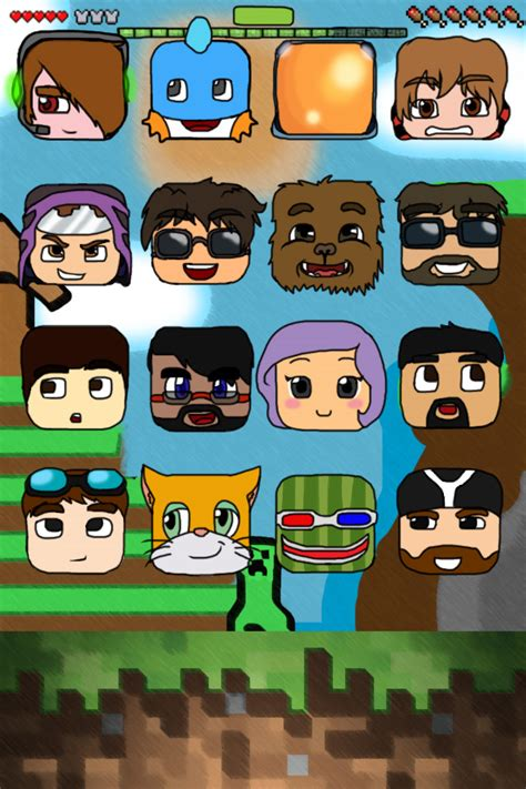 wallpaper iphone youtubers minecraft youtubers themed iphone 4 4s wallpaper by