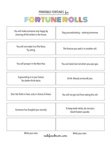 fortune cookie template printable fortune cookie quotes quotesgram