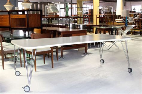 Large White Meeting Table Large White Kartel Max Dining Or Conference Table On Wheels At 1stdibs