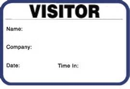 visitor badge template single use secure self expiring name badges