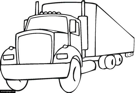 peterbilt semi truck coloring pages coloring pages