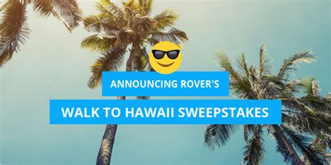 Walking Sweepstakes - walk to hawaii announcing rover s dog walking sweepstakes rover com