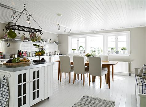 white kitchen floors swedish cottage by the sea see this house