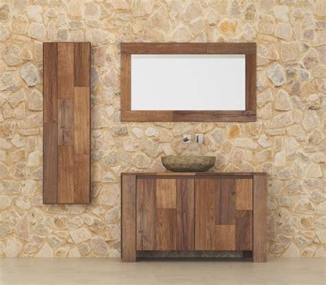 arredo bagno in legno arredo bagno legno massello l 80 x h 75 x p 50 cm completo