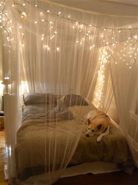 canap駸 lits 23 amazing canopies with string lights ideas