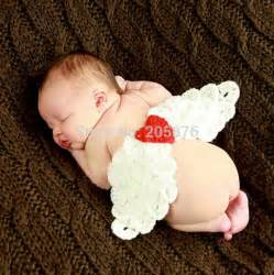Infant Photo Props Lovely Angel Wings Crochet Baby Photography Props Infant Baby Knitted Costume Newborn Photo