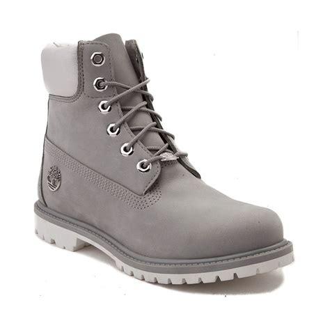 womens timberland 6 metallic collar premium boot gray