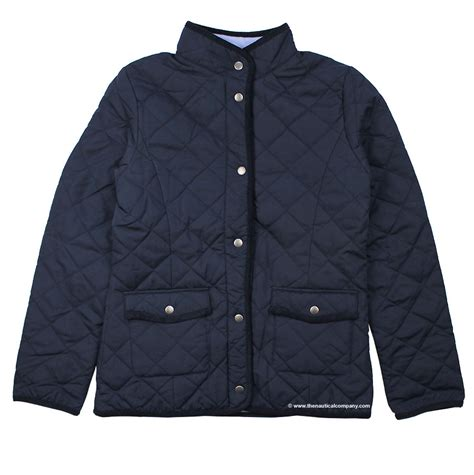 Navy Quilted Coat S by S Navy Blue Fleece Lined Quilted Jacketfor The Nautical Company Uk