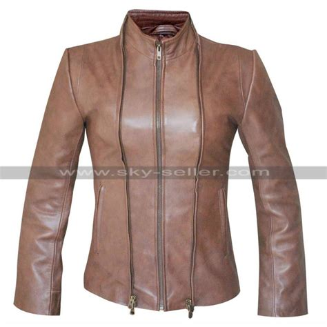 ladies brown leather biker womens biker lace up brown leather jacket