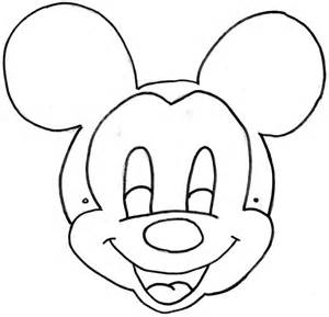 Mickey Mouse Mask Template Printable sketch template