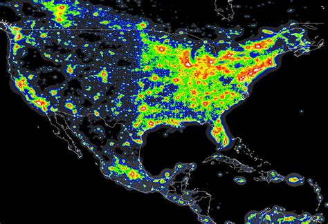 Light Pollution Map Usa Astro Travels
