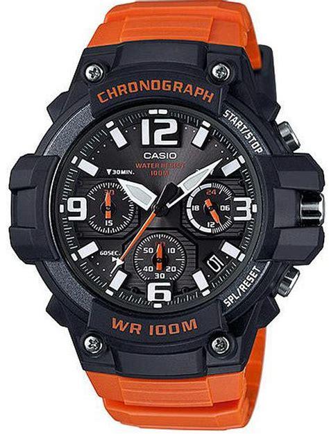 G Shock Black Orange s casio black orange chronograph sports