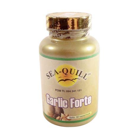 Garlic Forte Odorless Hipertensi Penyumbatan Darah Kolesterol jual sea quill garlic forte suplemen kesehatan 1500 mg harga kualitas terjamin