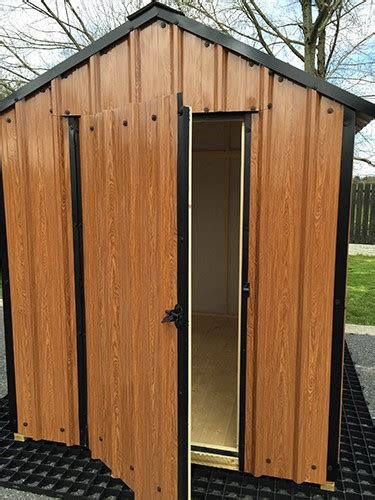 ft  ft wood grain steel shed garden sheds  sale