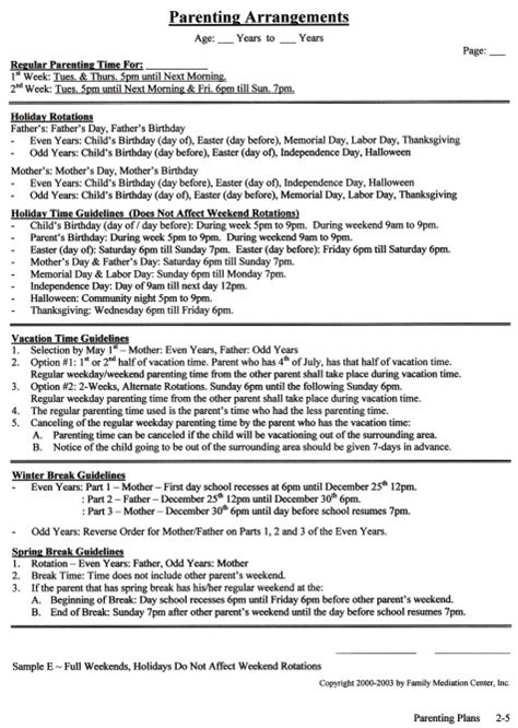 co parenting plan template co parenting plan template 28 images parenting plan