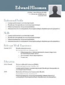 top 10 best resume templates free for microsoft word