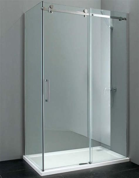 elite 1400mm frameless sliding shower door 8mm glass