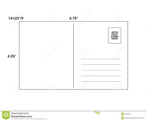 post card template 9 x 6 post card template vector stock illustration