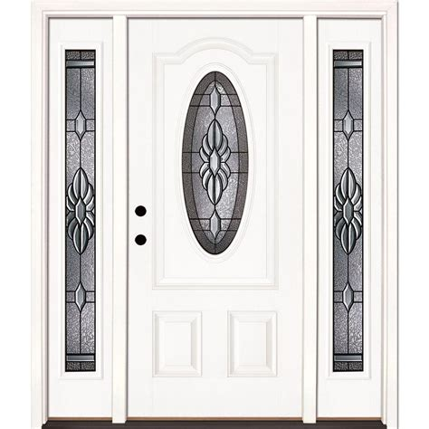 Feather River Doors 67 5 In X81 625 In Sapphire Patina 3 Home Depot Front Doors With Glass