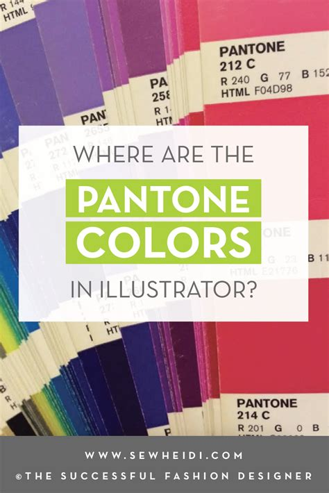 pantone colors in illustrator where are the pantone colors in adobe illustrator