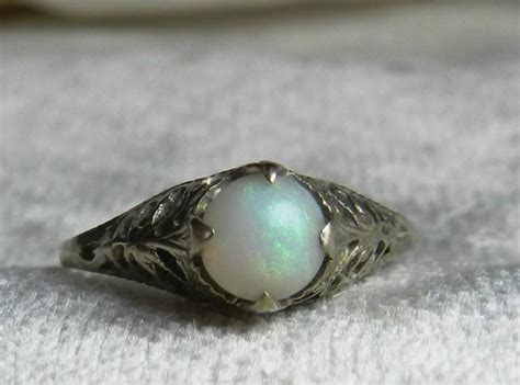 deco opal engagement rings opal ring 14k gold deco 1920s opal engagement ring