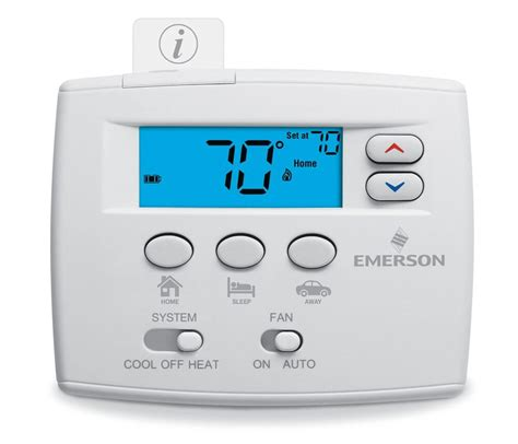 Emerson Easy Set Single Stage Thermostat With Home Sleep