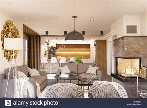 arredamento soggiorno con camino soggiorno e cucina arredamento con camino casa moderna in