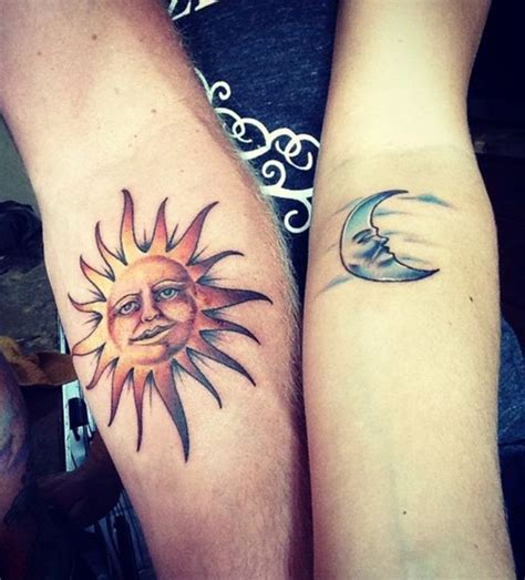 couple tattoo sun and moon 65 amazing sun and moon tattoo designs for the couples