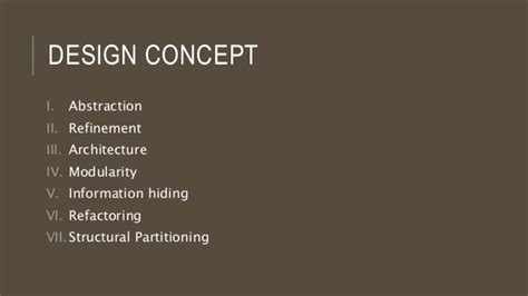 design concept refinement in software engineering design concept software engineering