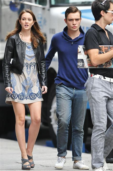 leighton meester and ed westwick ed westwick and chace crawford leighton meester blake