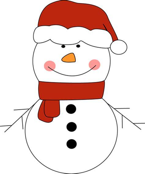 snowman in santa hat clip art snowman in santa hat image