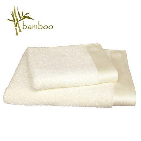 serviette de bain en bambou serviette de bain bambou 68x140cm blanc