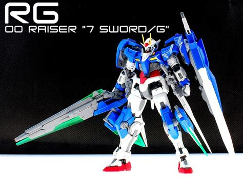 P Bandai Rg Oo Gundam Seven Sword rg 1 144 00 raiser seven sword g custom work by