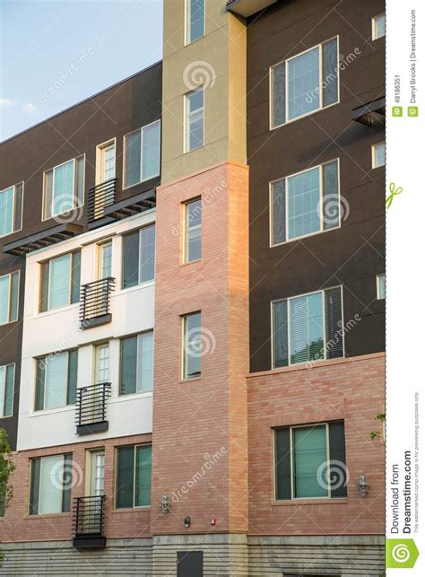 Apartment And Condo Building Brown White And Apartment Building Stock Photo Image