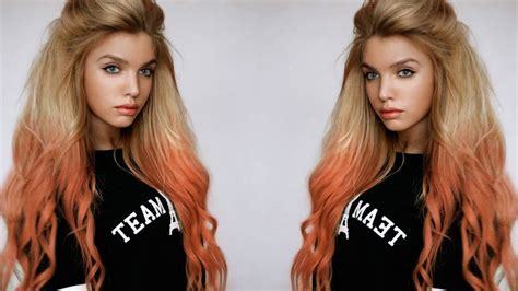 food color hair dye how to dip dye your hair with food colouring easy hair