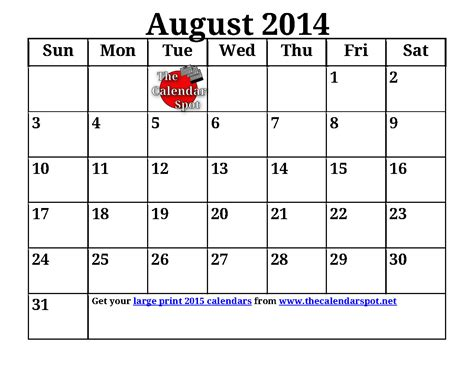 Large Print Calendar 7 Best Images Of Large Printable Calendar 2014 2014