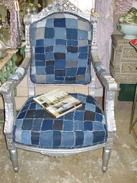 Patchwork Chair Furniture - denim patchwork chair furniture denim