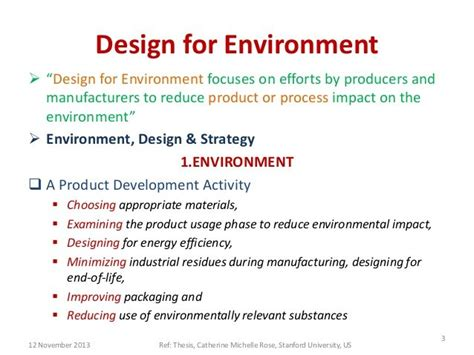 design for environment sustainability design for environment webinar july 21 aimed at
