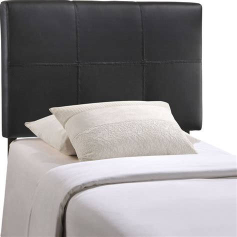 headboard vinyl modern contemporary twin size vinyl headboard black faux