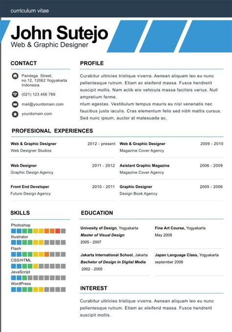 single page resume template elegante one page one page resume template