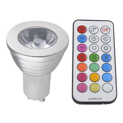 Multicolor Led Light Bulb 3w E27 Mr16 Gu10 Rgb Led Bulb L Spot Light Multicolor Remote Ebay