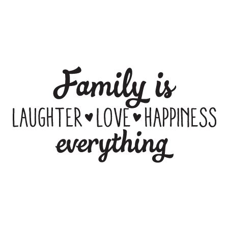 Design My Own Bathroom by Family Is Laughter Love Happiness Wall Quotes Decal