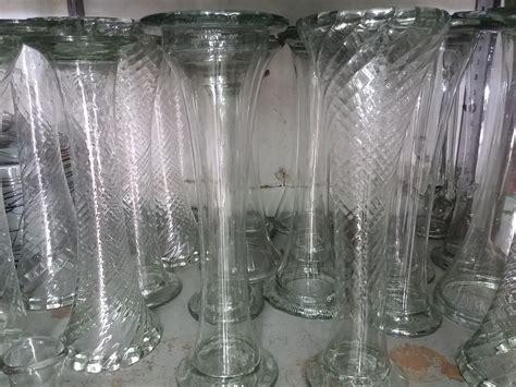 hermoso centro de mesa boda florero vidrio soplado novios florero centro de mesa tipo trompeta vidrio soplado 42 cm
