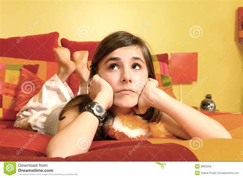 laid in bed girl lay in a bed stock photo image of letter caucasian