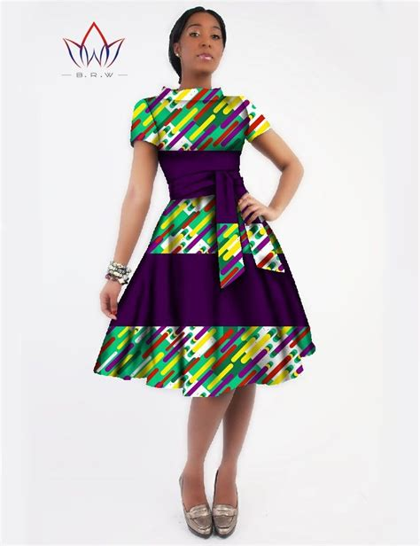 African Print Clothing For Ladies | stylish african print dashiki sashes dress african print