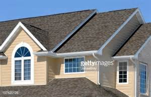Shingle Gable Roof New Residential House Architectural Asphalt Shingle Roof