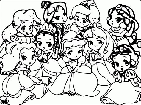 coloring pages of princesses disney baby princess coloring pages coloring home