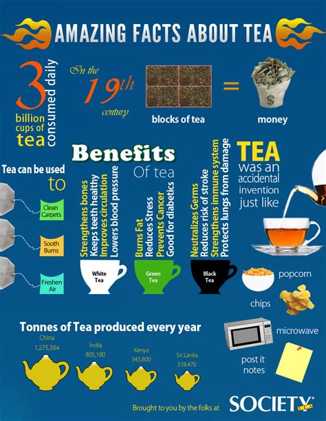 8 Facts About by 10 Informative Infographics On Tea Infographics Graphs Net