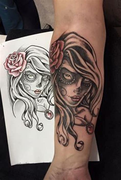 catrina tatouage style divers par thanos anonym s tattoo