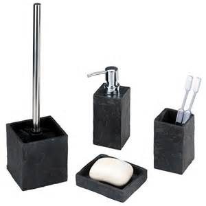 wenko slate rock bath accessories set at plumbing uk